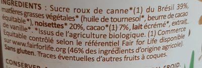 Choco noisette - Ingredients - fr