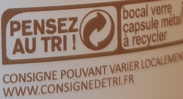 Choco noisette - Recycling instructions and/or packaging information - fr
