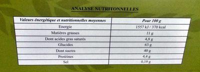 KADAIF - Nutrition facts