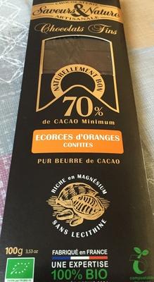 Chocolat 70 % écorces d'orange confites - Product