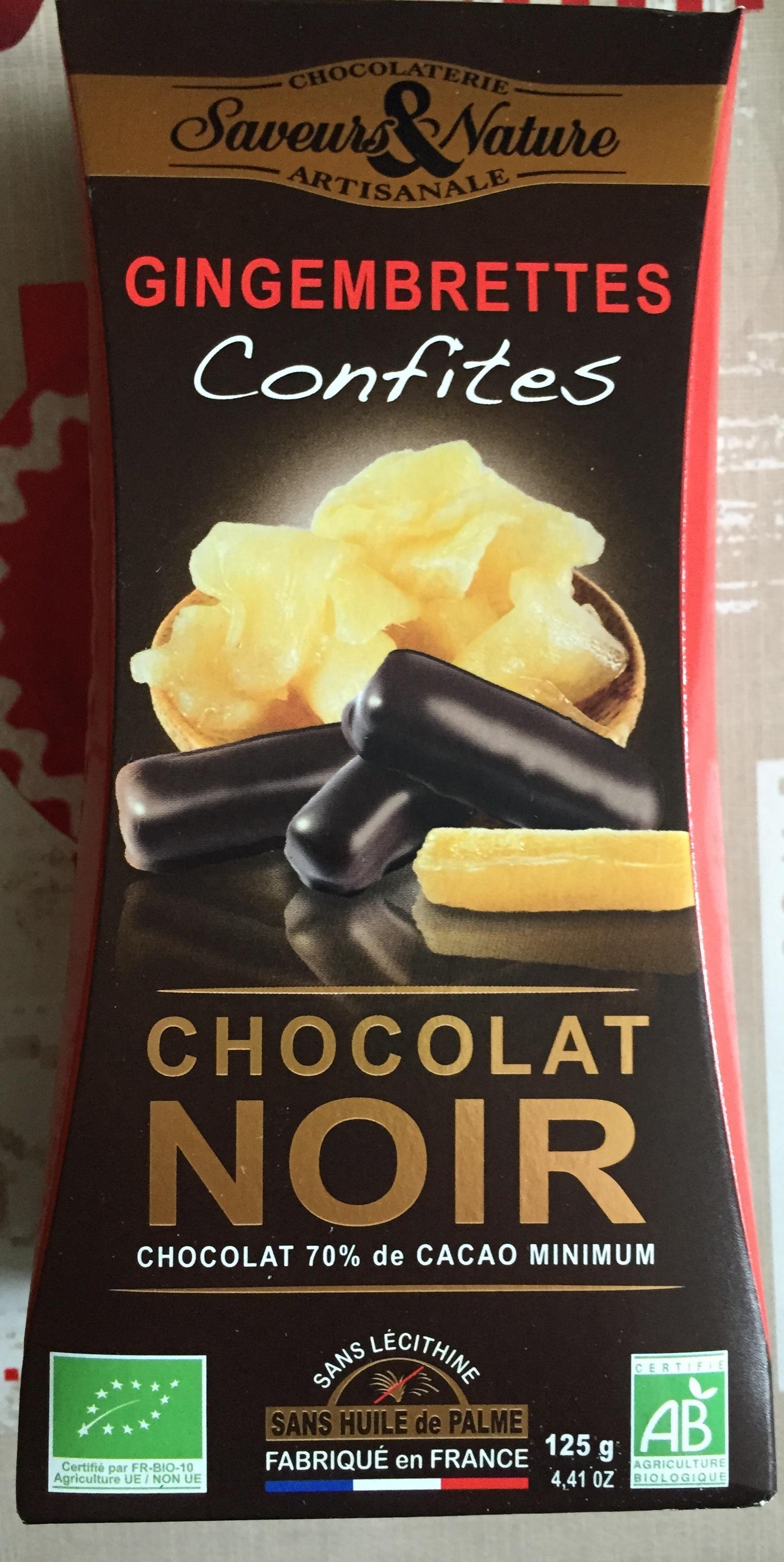 Gingembrettes confites chocolat noir - Product