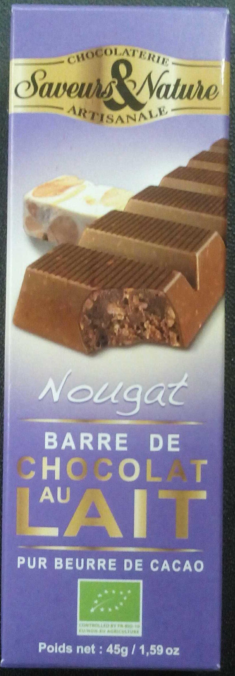 Nougat - Barre de Chocolat au Lait - Produit - fr
