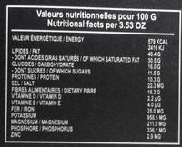 Chocolats Fins 85% Noir - Informations nutritionnelles - fr