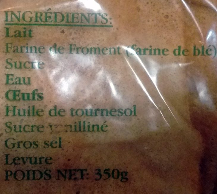 12 Crêpes de froment fait main - Ingredients