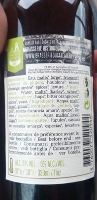 Bière blonde Bio - Ingrediënten