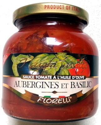 Sauce tomate à l'huile d'olive, Aubergine et basilic - Product