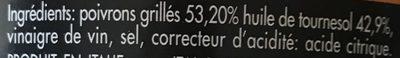 Poivrons grilles - Ingrédients - fr