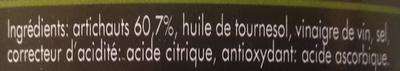 Coeurs d'artichauts grillés - Ingredients