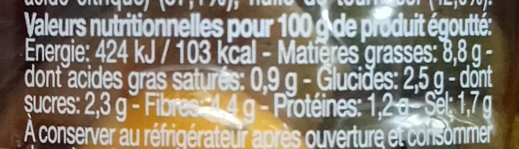 Melange de legumes grilles - Informations nutritionnelles - fr