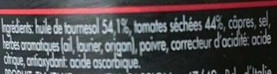 Tomates Séchées - Ingrediënten - fr
