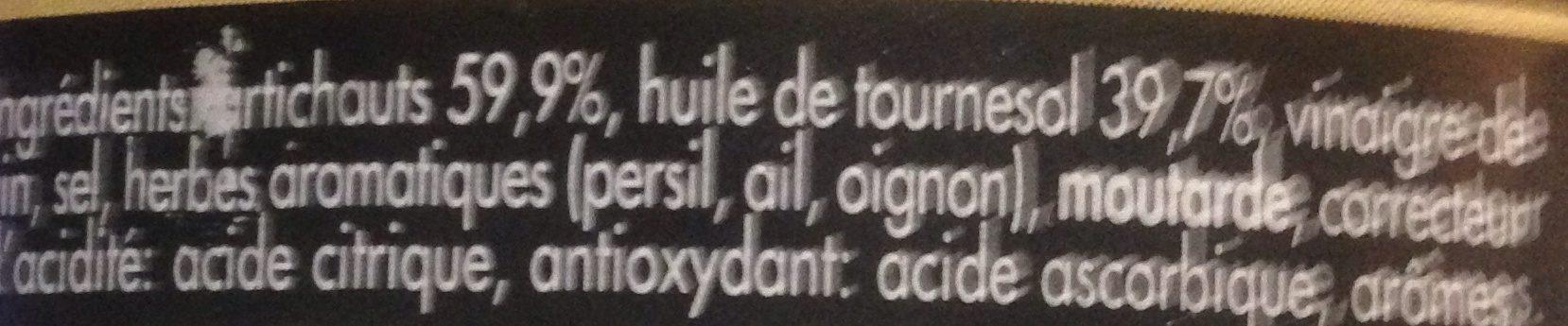Coeurs d'artichauts à la paysanne - Ingrédients - fr