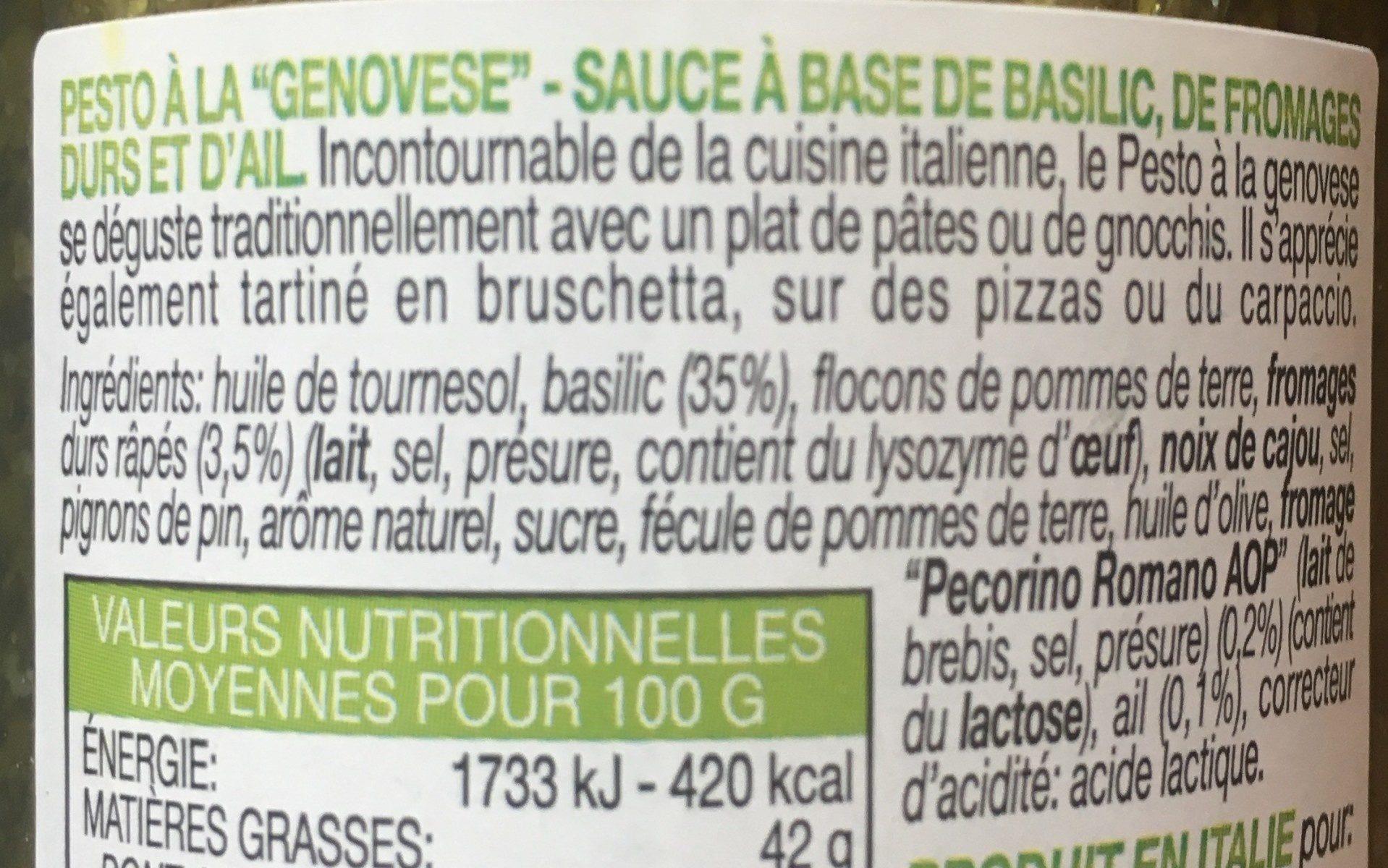 Le Pesto alla genovese Flarelli - Ingredients - fr