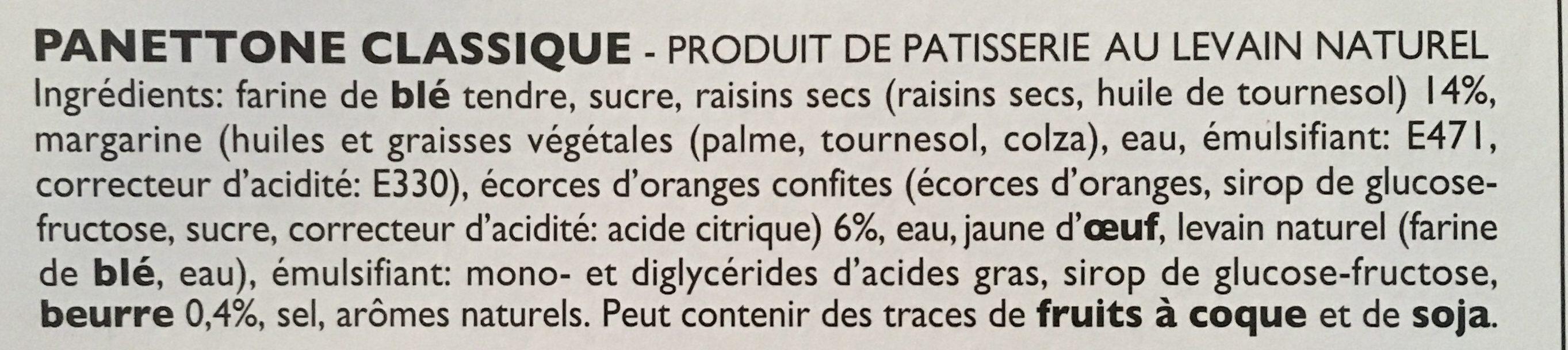 Panettone avec Beurre - Ingrediënten