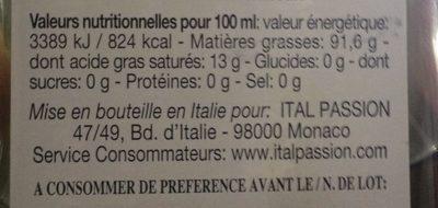 Belfiori Huile D'olive Vierge Extra - Ingredienti - fr