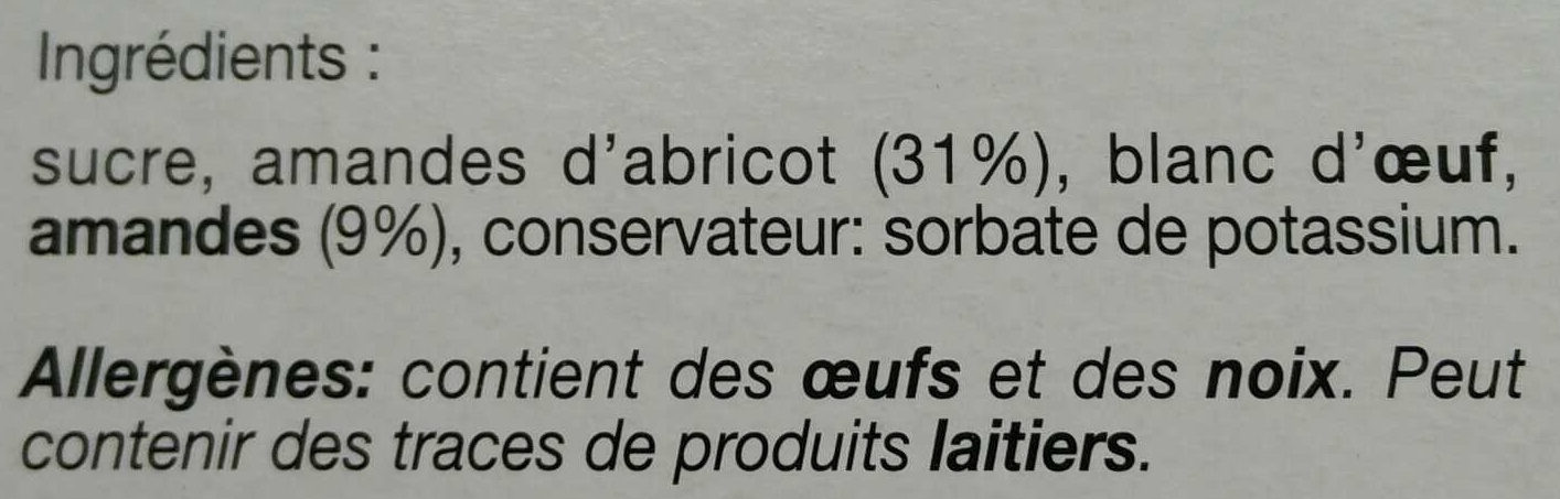 Amaretti morbidi - Ingredients - fr