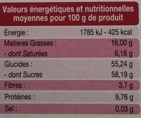 Amaretti morbidi - Nutrition facts - fr