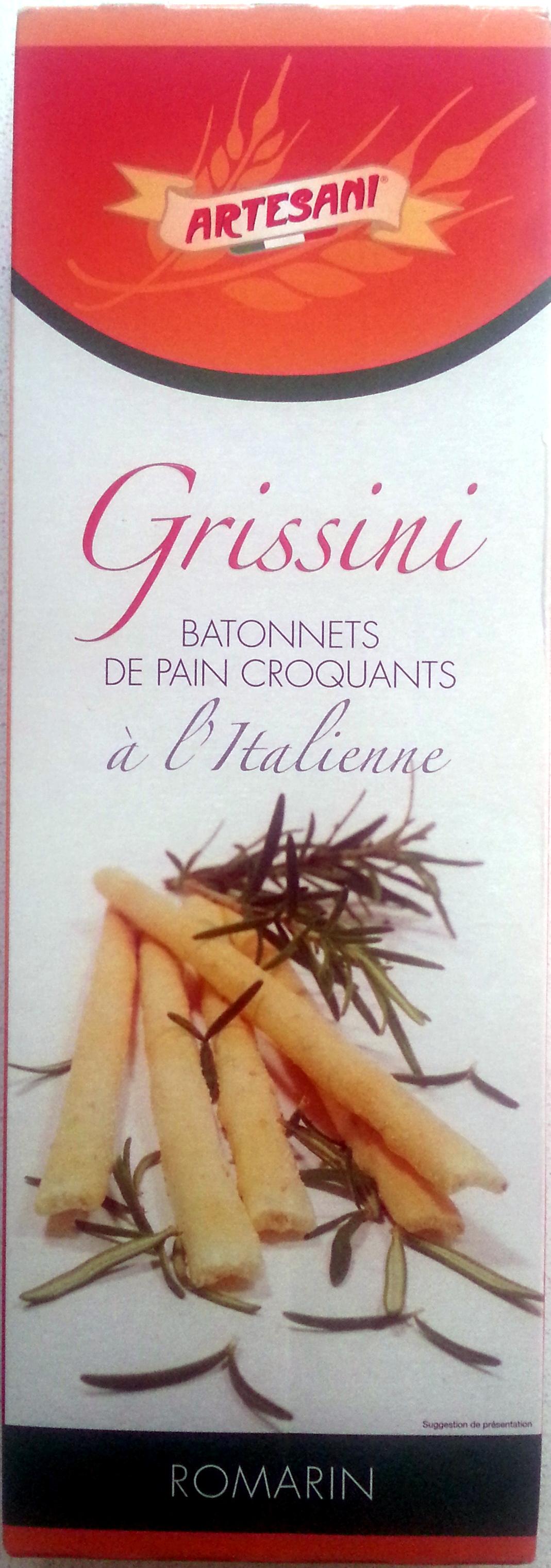 Grissini Romarin - Bâtonnets de pain croquants à l'Italienne - Produit - fr
