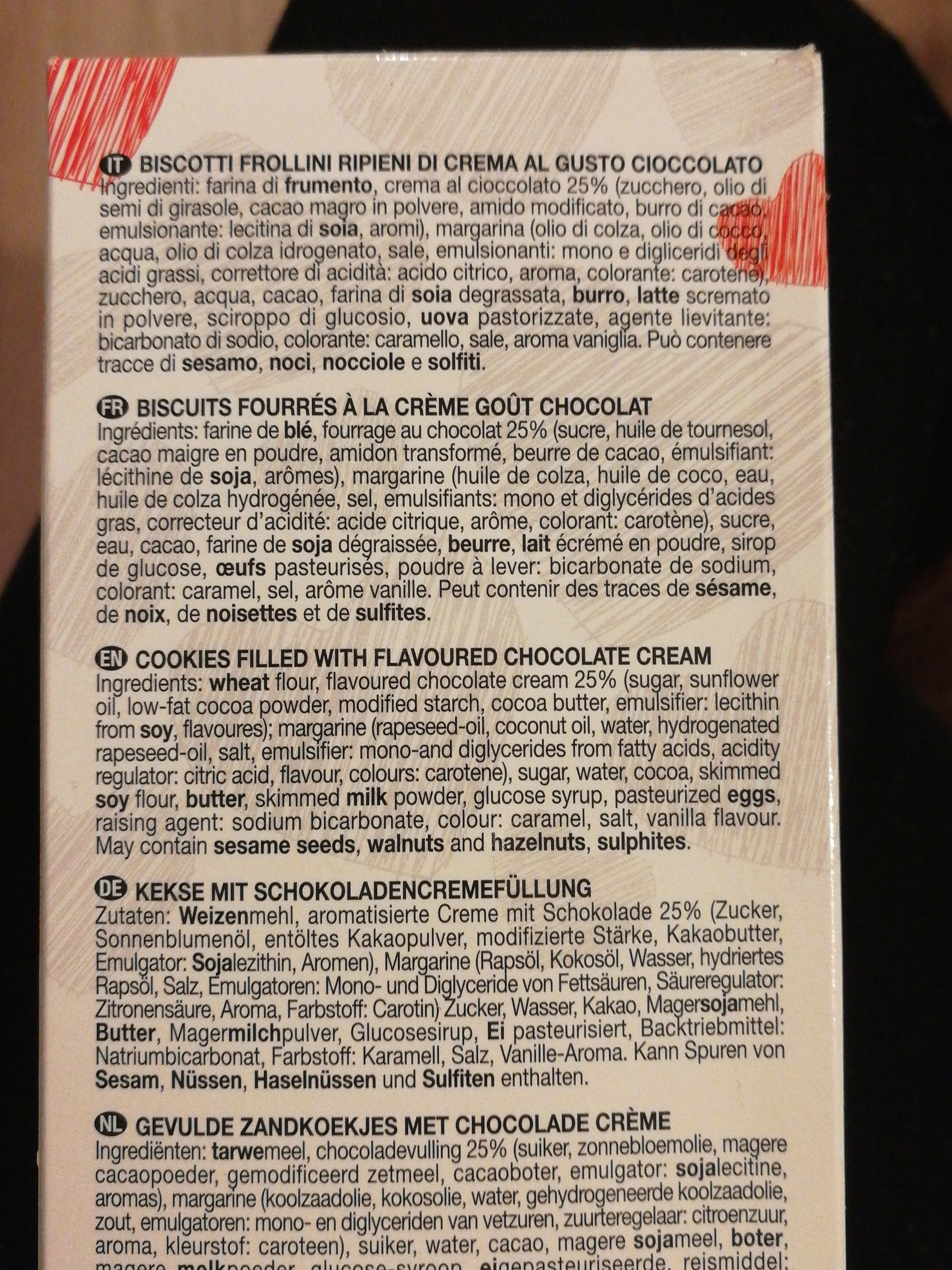 Cuori fondant - Ingrediënten - fr