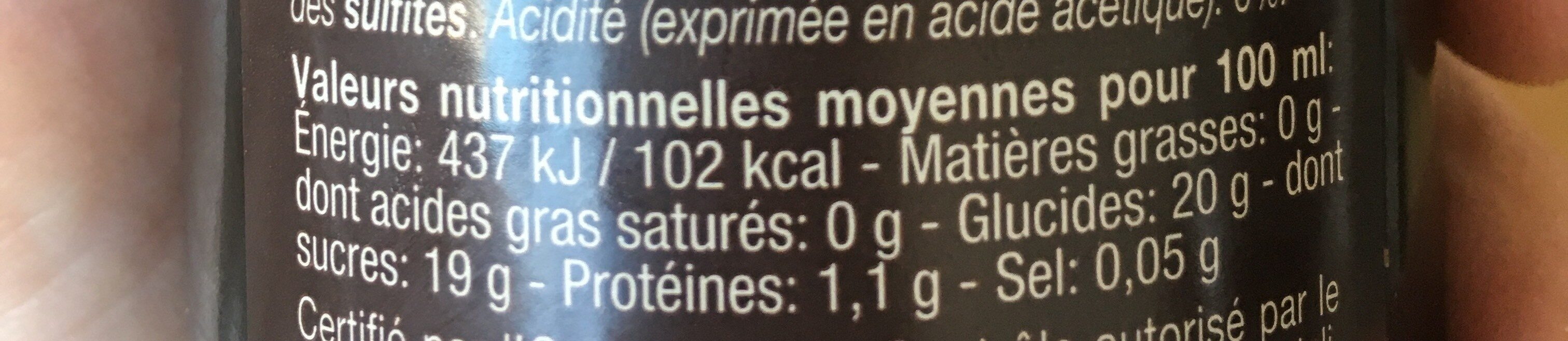 Vinaigre balsamique de Modène 500ml - Valori nutrizionali - fr