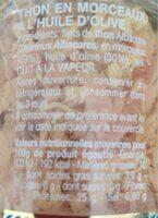 Filets de thon en morceaux a l huile d olive special salade - Valori nutrizionali - fr