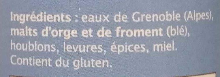Blanche de Sassenage - Ingrédients