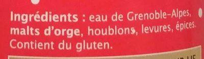 Happy'N Bière de Noël - Ingrédients