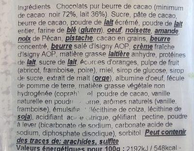 Assortiment chocolats - Ingredients