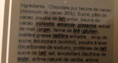 Praliné Feuilleté Pistache - Ingredients