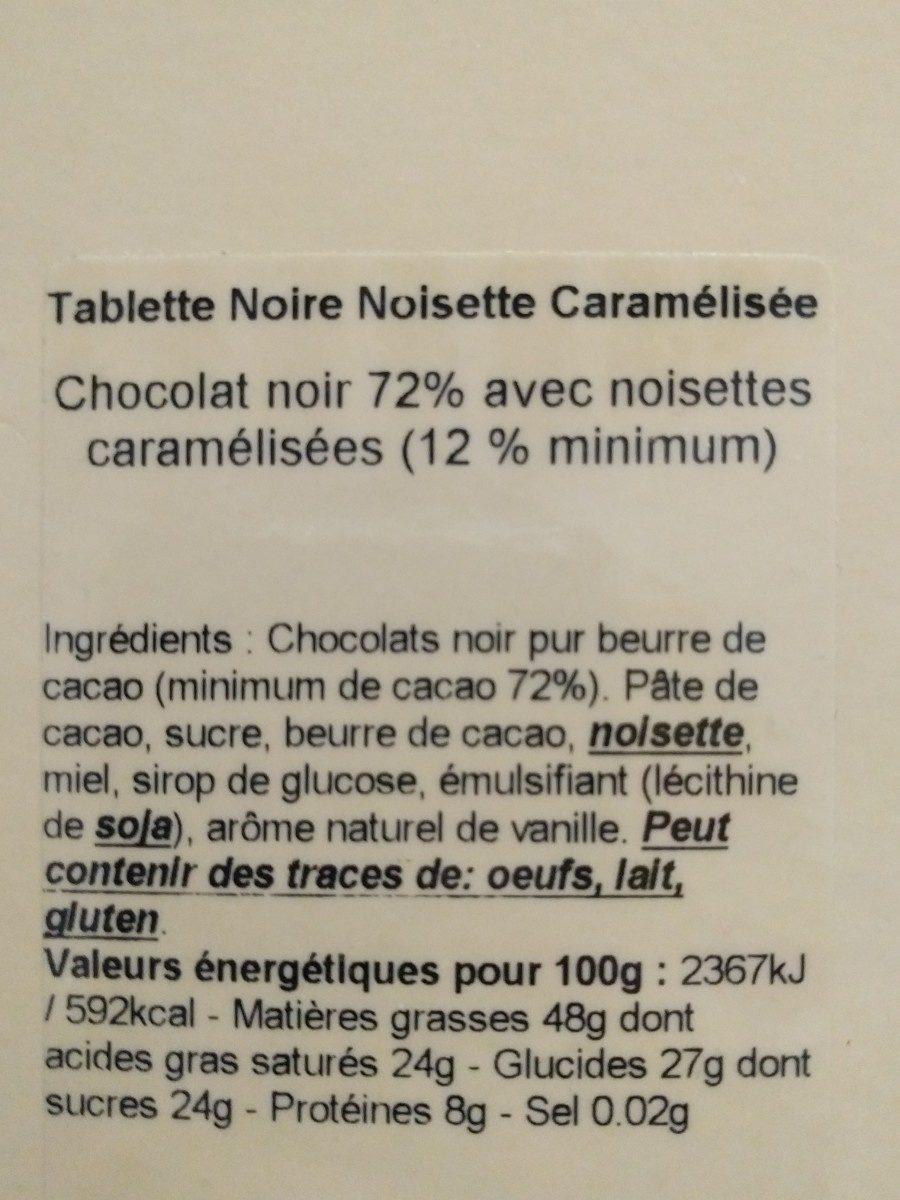 Chocolat Noisette Caramélisée - Ingrediënten
