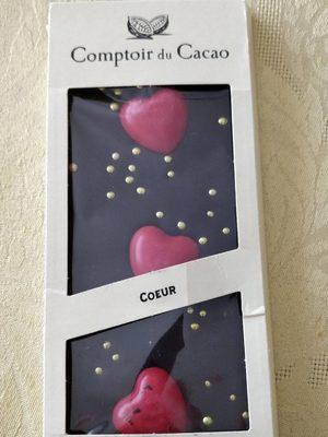 Tablette de chocolat Noir coeurs - Produit