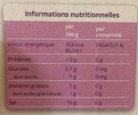 Stevia mini - Informations nutritionnelles - fr