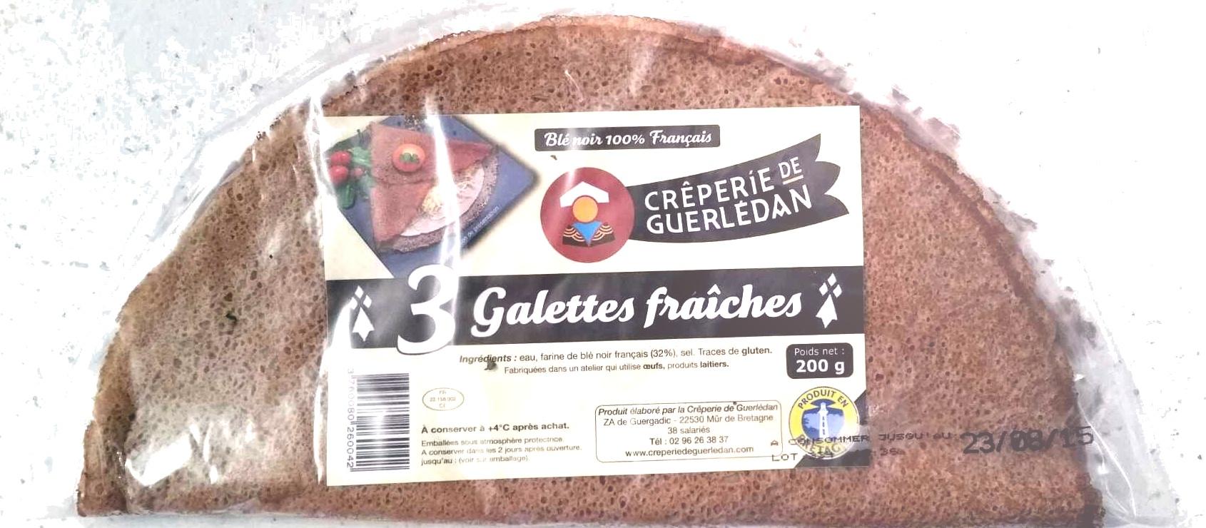 3 Galettes fraîches - Product - fr