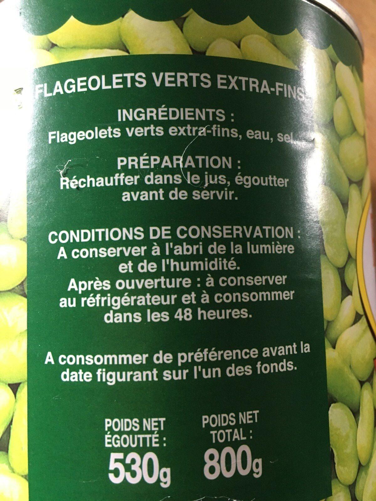 Flageolet - Ingrédients - fr