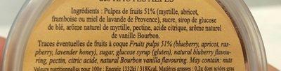 Pâtes de fruits des Hautes Alpes - Ingredients