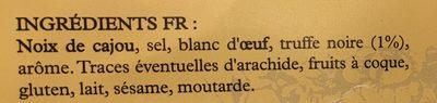 Noix de cajou à la truffe noire - Ingredients
