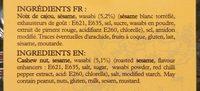 Noix de cajou au wasabi - Ingredients