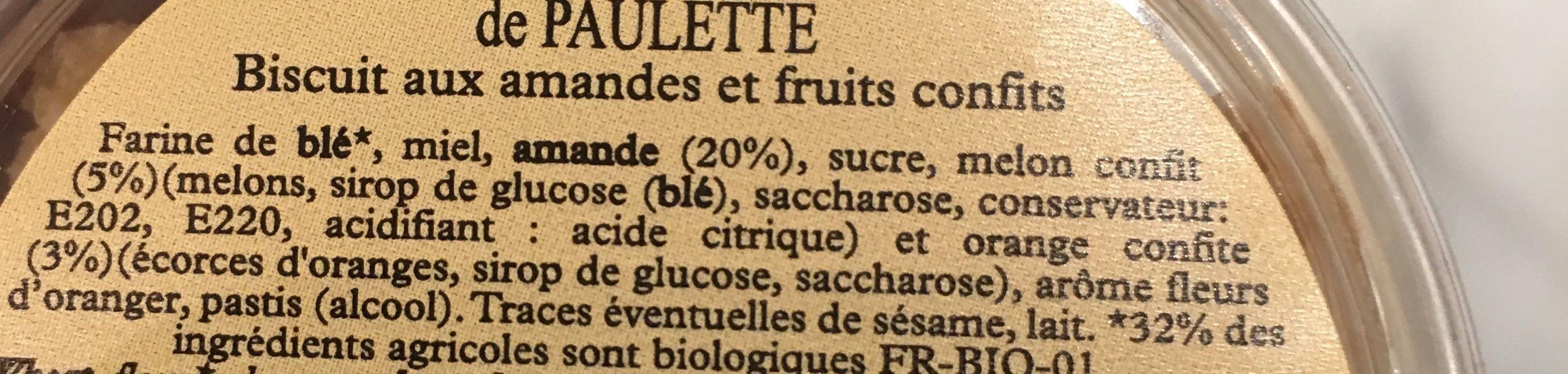 Folies de Paulette - Ingredients