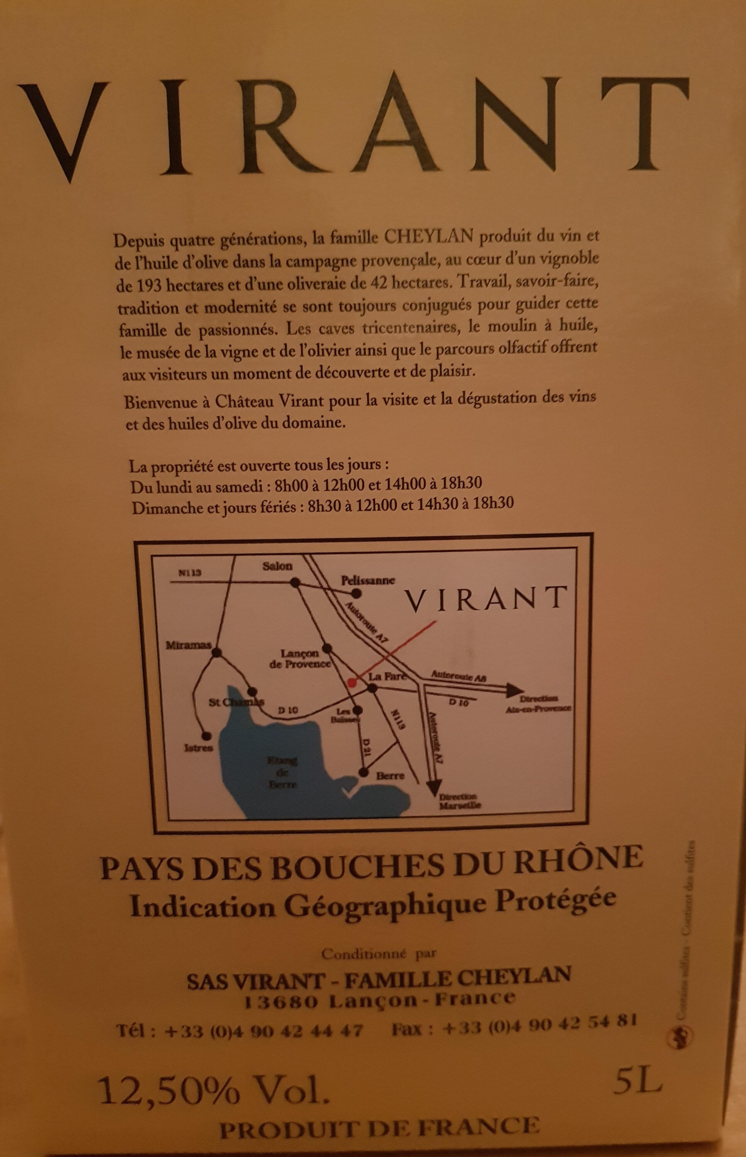 virant - Ingredients - fr