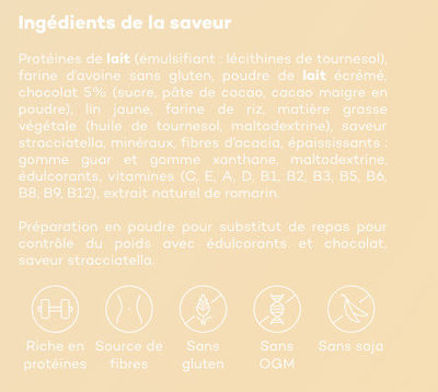So Shape Stracciatella - Ingrediënten - fr