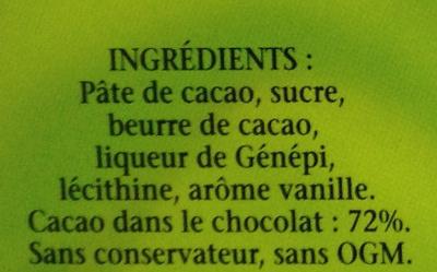 Génépi des Pères Chartreux - Ingrediënten