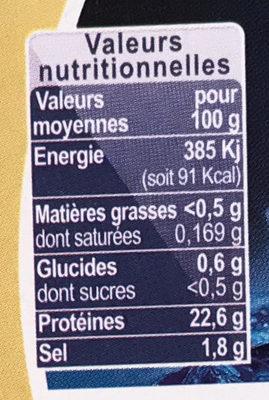 Crevette tigrée Premium - Nutrition facts - fr