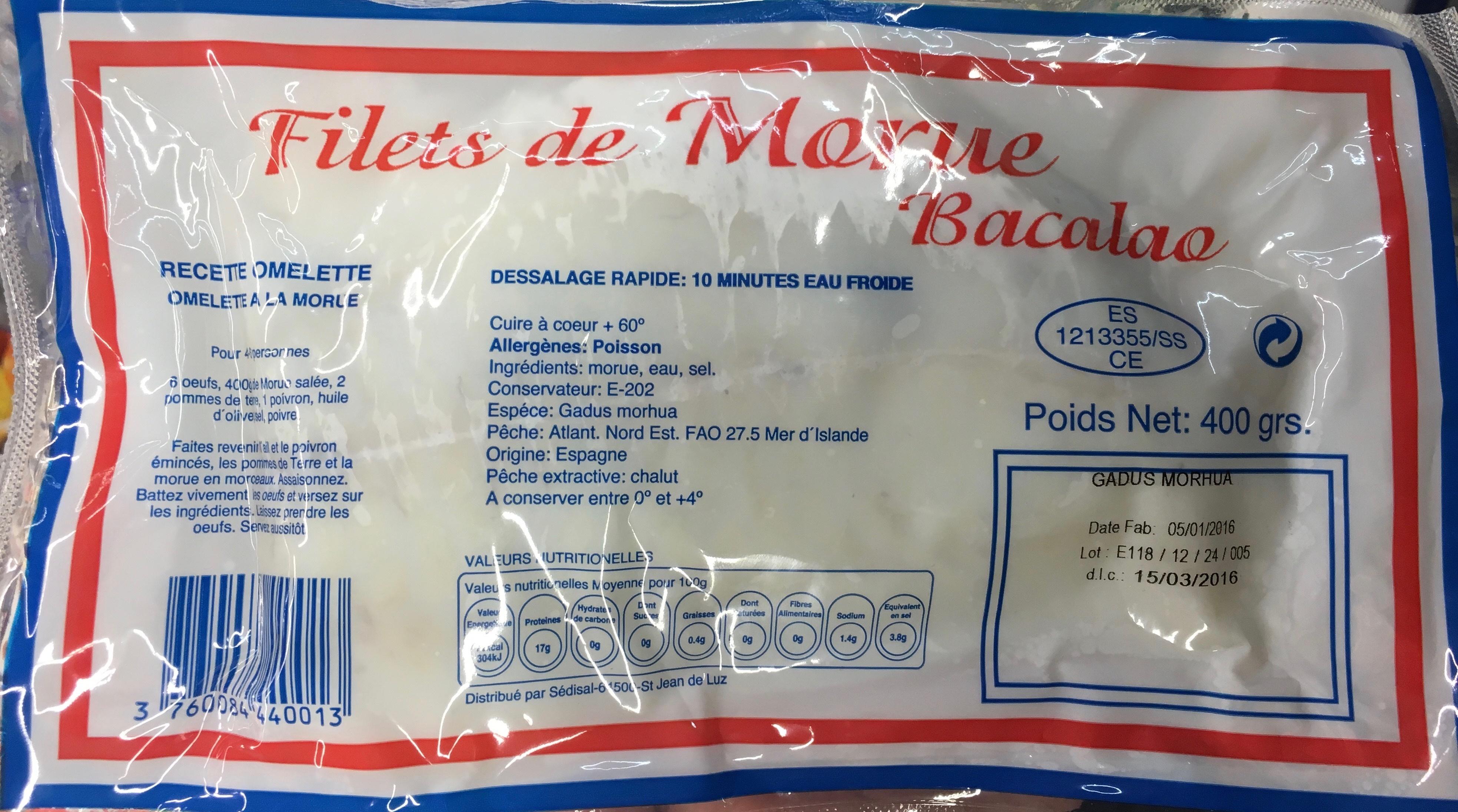 Filets de Morue Bacalao - Produit