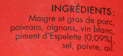 Axoa de porc au piment d'espelette - Ingrédients