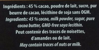 Mélissa - Ingredients