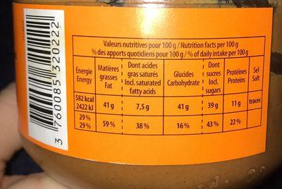 Creme de noisette - Informations nutritionnelles - fr