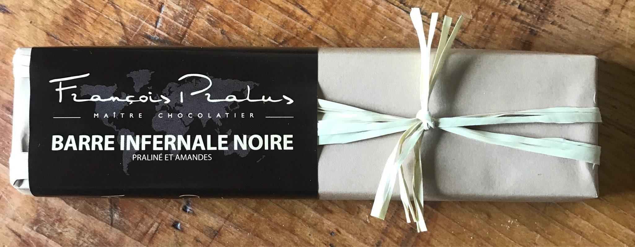 Barre Infernale Noire - Praliné Et Amandes - Produit - fr