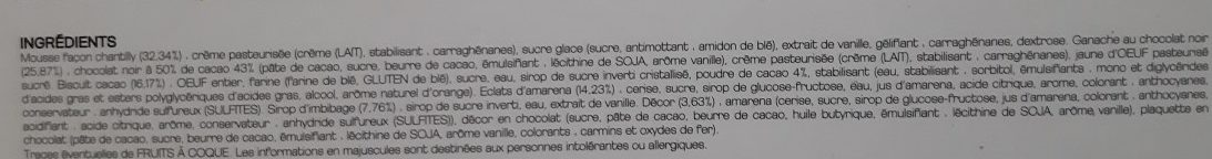 Les Entremets Pâtissiers - Forêt Noire - Ingredients - fr