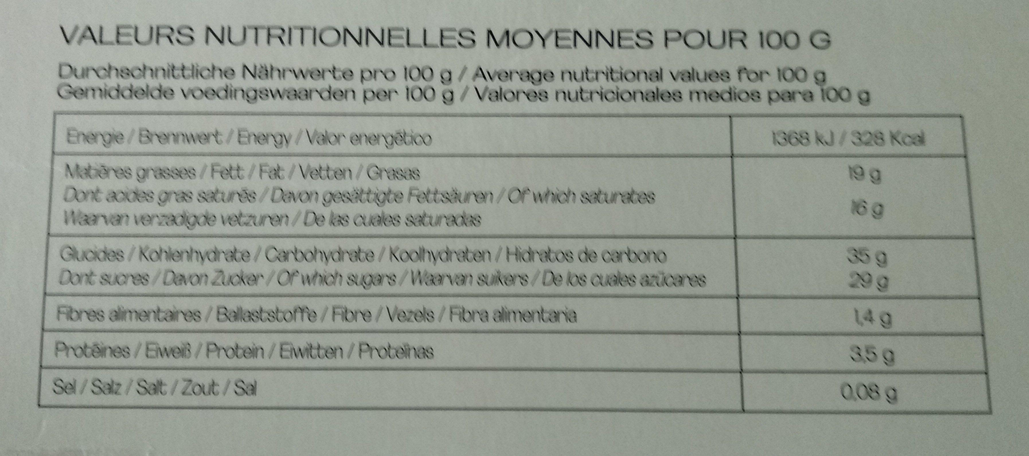 Les Entremets Pâtissiers - Forêt Noire - Nutrition facts - fr
