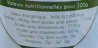 Huile d'olives vierge extra 18:1 Picual - Nutrition facts - fr