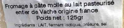 baratine nature - Ingredients - fr